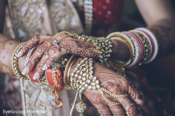 Incredible Indian bridal Hath Panja bracelets.