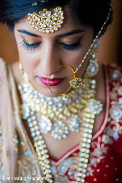 Marvelous Indian bridal tikka and nose ring.