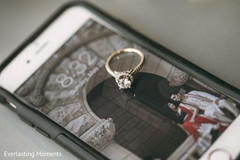 Lovely Indian bride engagement ring.