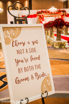 Special Indian wedding sign decor.