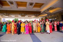 Colorful baraat celebration capture.