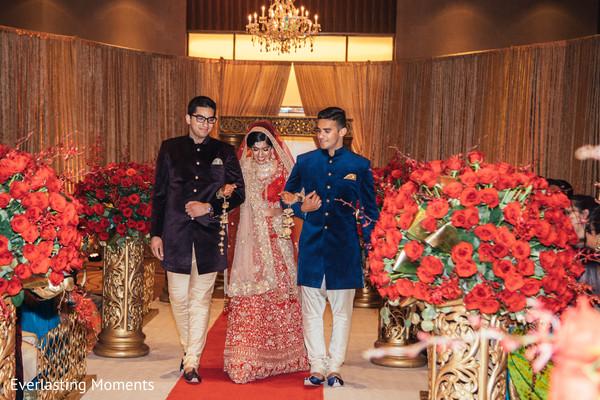 Indian bride's grand entrance.