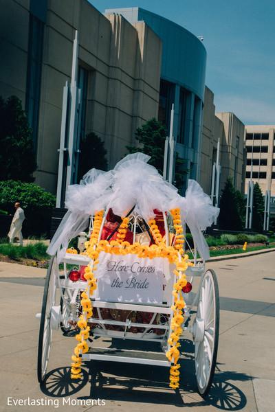 Incredible Indian wedding carriage photo.