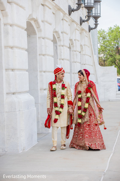 Most romantic Indian bride and grooms outside photo shoot.