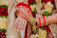 Amazingly heartfelt Indian bride and groom closup.