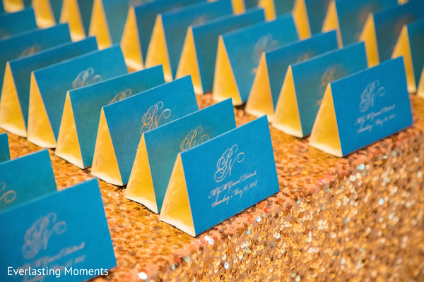 Marvelous Indian wedding seating cards table.