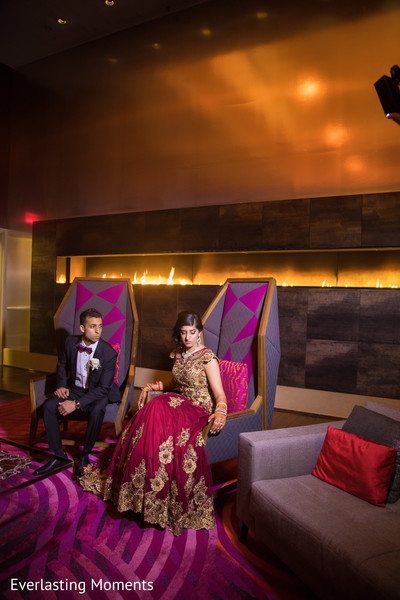 Amazing Indian bride and groom photo session.