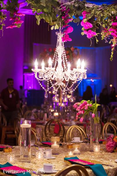 Indian wedding chandelier decoration.