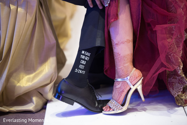 Marvelous Indian bride and groom's reception shoes.