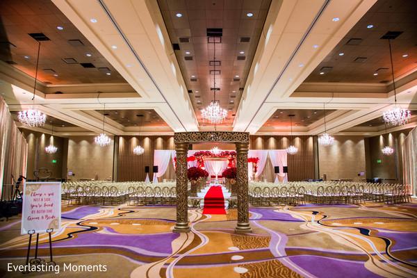 Stunning Indian wedding aisle entrance decor.