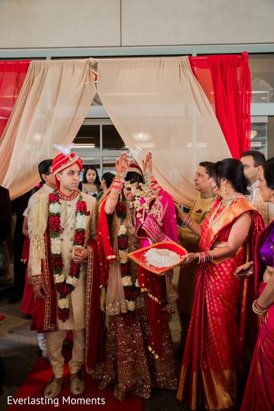 Indian bride's vidaai capture.
