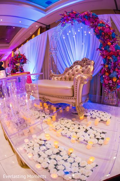Incredible Indian wedding stage floor decoration.