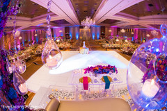 Magnificent Indian wedding reception dance floor decor.