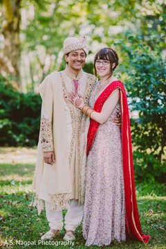 Happy Indian couple outdoors photography.