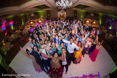 Stunning capture of Indian wedding reception party.