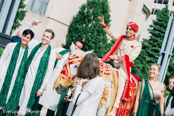 Joyful Baraat procession capture.