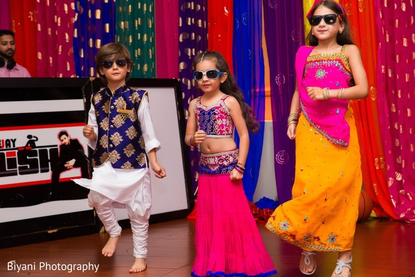 Lovely kid guests performing a choreography