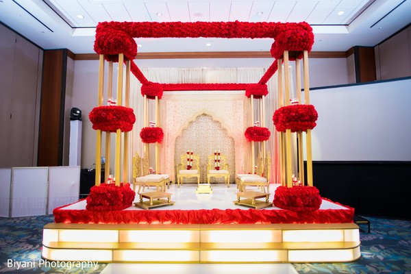 See this beautiful mandap ready for the ceremony