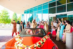 Indian groom arriving to the ceremony