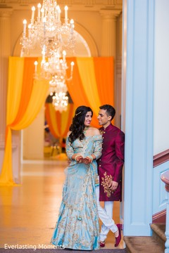 Elegant Indian couple photography.
