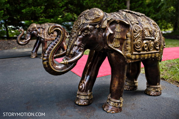 Stunning Indian wedding elephant statues.