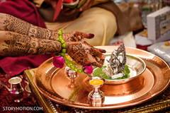 Closeup capture of maharani's mehndi art.