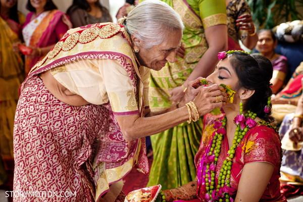 Special capture of Maharani's Haldi rituals.