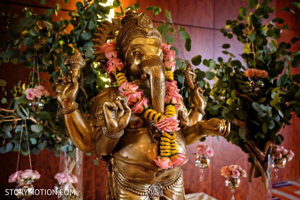Ganesha statue for the haldi ceremony decor.