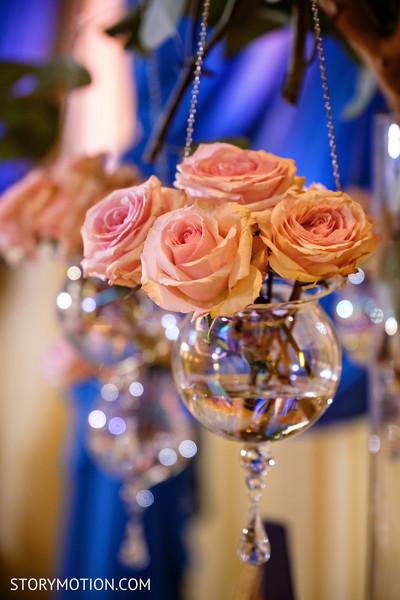 Marvelous Indian pre-wedding roses decor.