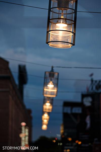 Elegant sangeet lamps decor.
