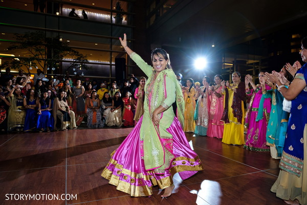 Upbeat Indian bridesmaid sangeet dance.