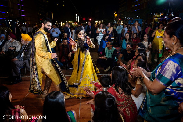 See this lovely couple Sangeet dance.