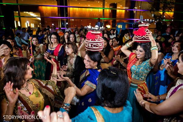 Traditional sangeet dance celebration capture.