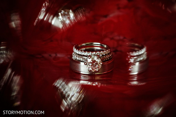 Stunning Indian wedding bands and engagement ring.