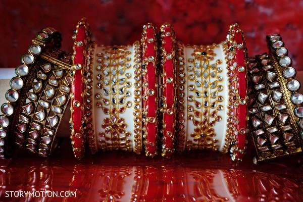 Marvelous Indian bridal ceremony bangles.