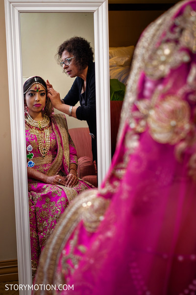 See this lovely maharani getting ready.