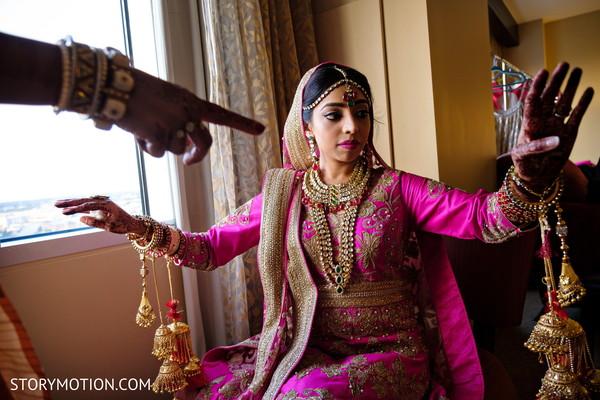 Maharani showing her kalire.