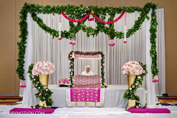 Incredible mandap ceremony decoration.