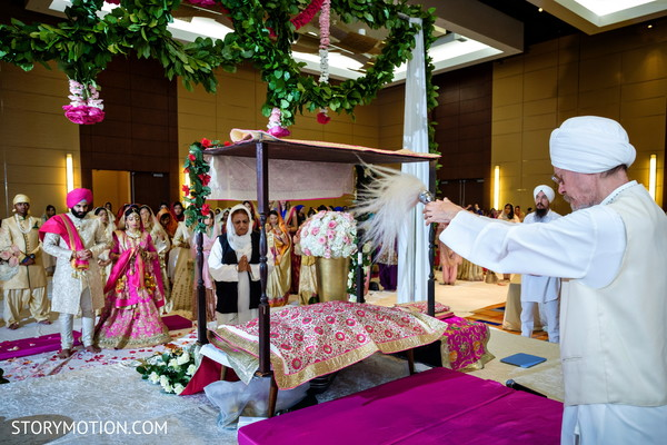 Special rituals at the sikhism ceremony.