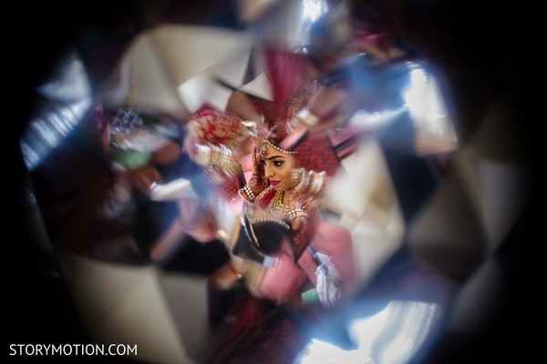 Magical capture of Indian bride.