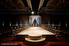 Stunning Indian wedding aisle decor.