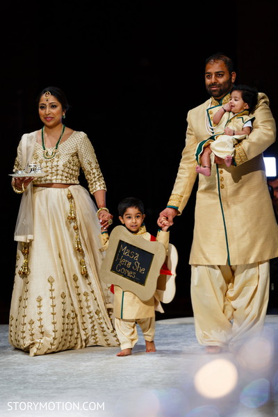 Incredible Indian pageboy with ring holders capture.