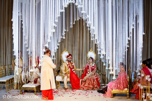 Magnificent view of Indian wedding ceremony.