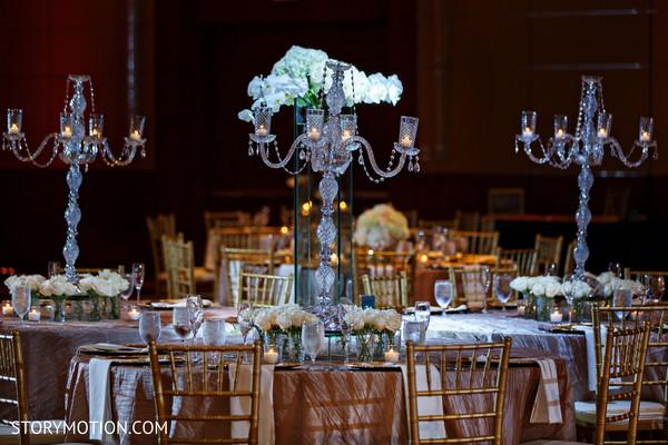 Magnificent Indian wedding chandelier decor.