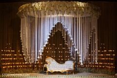 Stunning Indian wedding stage flower and sofa decoration. .