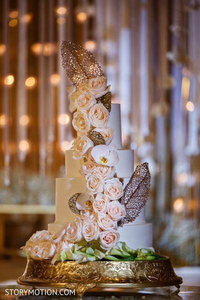 Indian wedding cake flower decoration capture.
