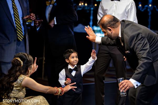 Indian bride's emotional moment.