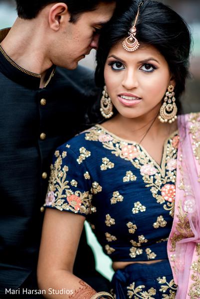 Beautiful Maharani staring at the camera
