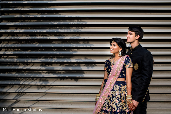 Outdoor photo shoot of Indian couple