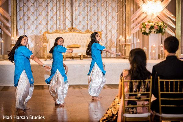 Dancers performing for the newlyweds